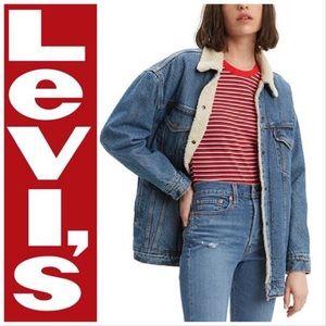 Levi's Vintage Sherpa Lined Trucker Denim Jacket
